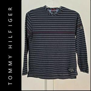 Tommy Hilfiger Men Long-Sleeve Shirt Black Medium